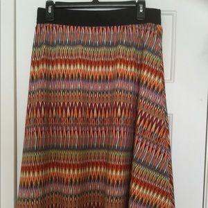 Lularoe Medium Lola Skirt - Multicolored Silky